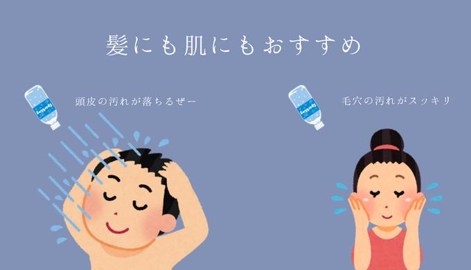 炭酸水は髪や肌にもおすすめ